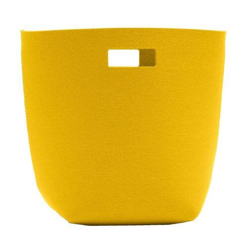 SiGN Wollfilz Papierkorb  gelb
