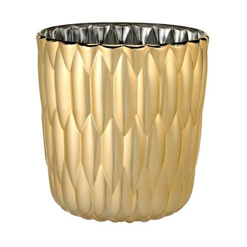 Kartell Jelly Vase metallisiert  gelb