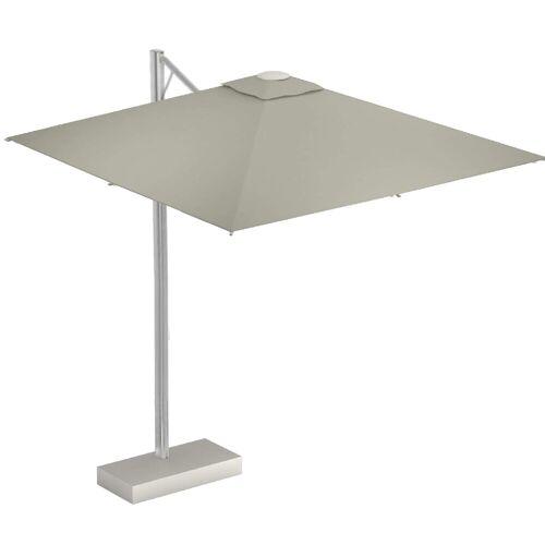 Emu Shade Pro Ampelschirm mit LED Beleuchtung und Schirmständer ohne Beschwerungsplatten  beige