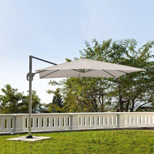 ikarus Ampelschirm inkl. Schirmständer ohne Beschwerungsplatten  beige