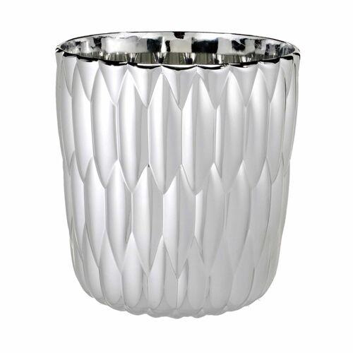 Kartell Jelly Vase metallisiert  grau