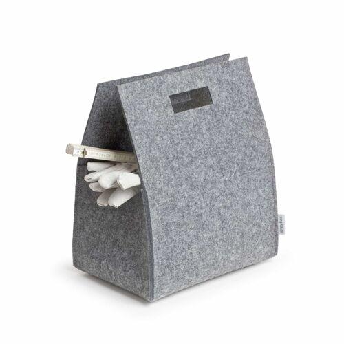 greybax Filztragekorb Little Porter Tragebox  grau