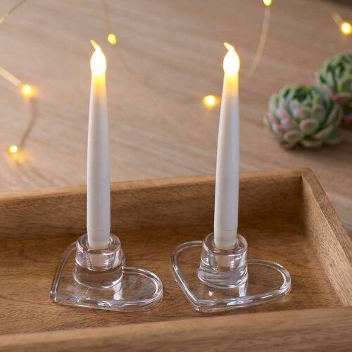 Sirius Ella Herz LED Kerzenständer 2er-Set  weiss