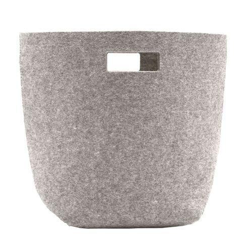 SiGN Wollfilz Papierkorb  grau