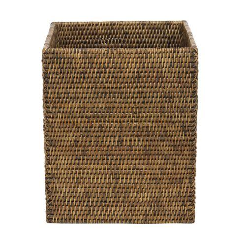 Decor Walther Basket Papierkorb quadratisch  braun
