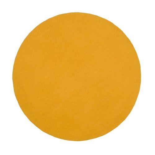myfelt Klara Flat Teppich rund  gelb
