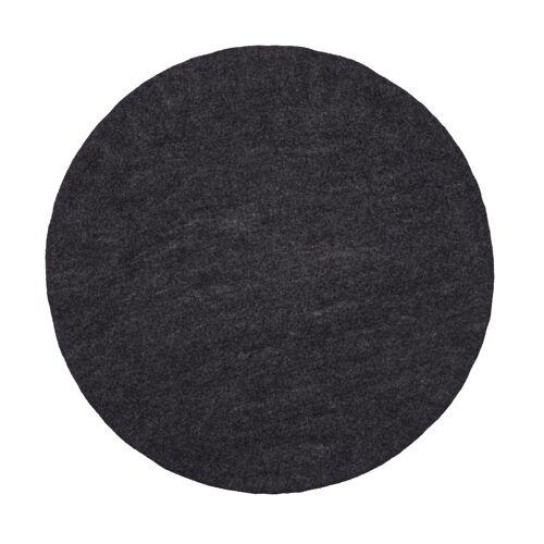 myfelt Hugo Flat Teppich rund  grau