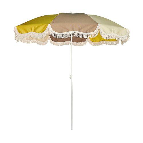 Jan Kurtz Retro Sonnenschirm mit Knickgelenk ohne Schirmständer  gelb