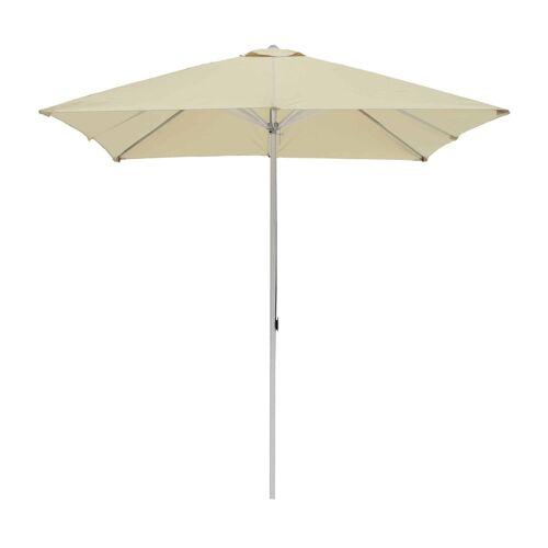 ikarus Alu-Sonnenschirm quadratisch ohne Schirmständer  beige