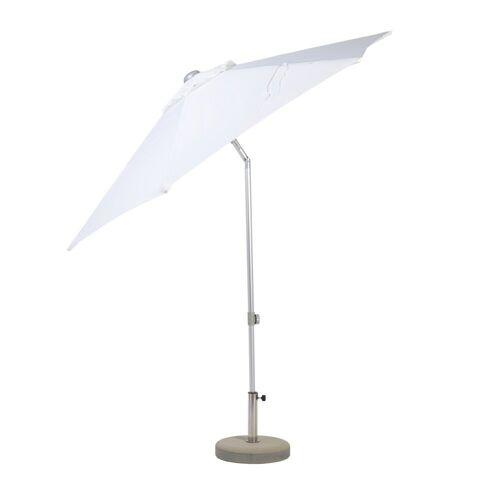 Jan Kurtz Elba Sonnenschirm rund mit Knickgelenk ohne Schirmständer  weiß