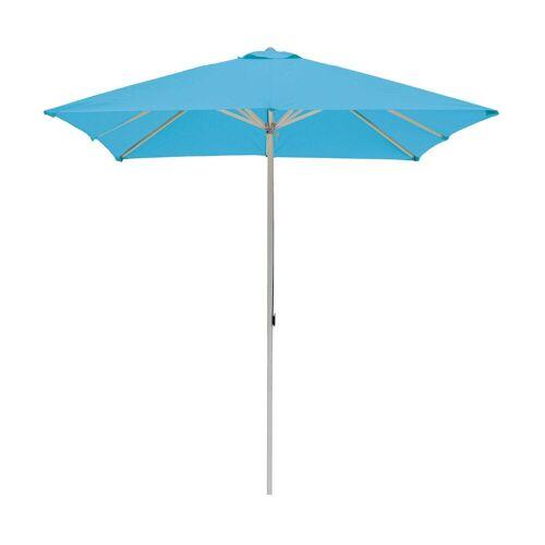 ikarus Alu-Sonnenschirm quadratisch ohne Schirmständer  türkis