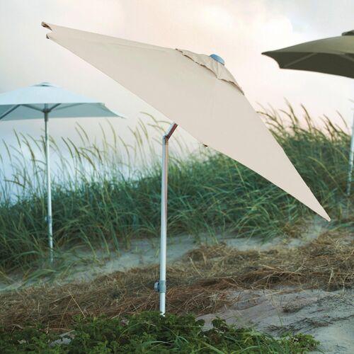 Jan Kurtz Elba Sonnenschirm rund mit Knickgelenk ohne Schirmständer  grau