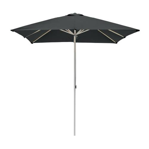 ikarus Alu-Sonnenschirm quadratisch ohne Schirmständer  schwarz