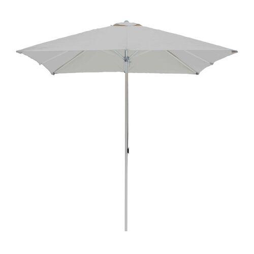 ikarus Alu-Sonnenschirm quadratisch ohne Schirmständer  grau