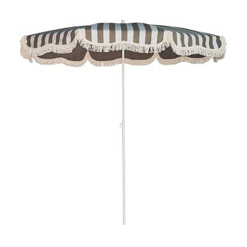 Jan Kurtz Retro Sonnenschirm mit Knickgelenk ohne Schirmständer  grau