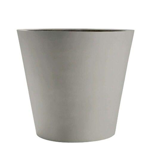 amei Stonefiber Pot Blumentopf rund  grau