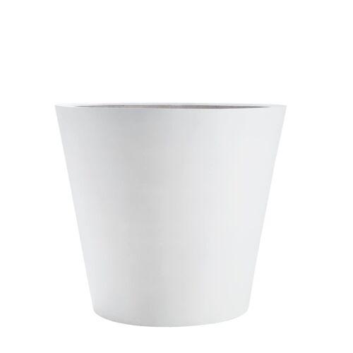amei Stonefiber Pot Blumentopf rund  weiß