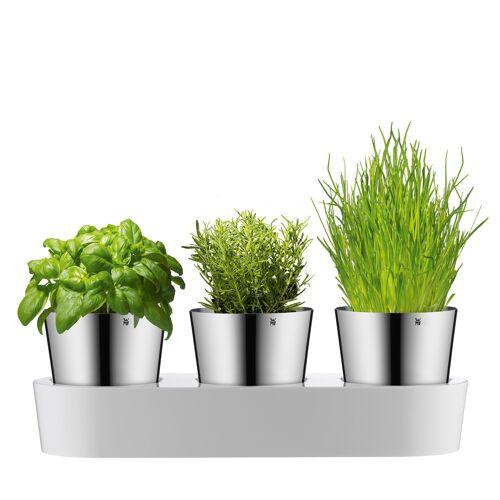 WMF Herbs@Home Kräutergarten Blumentopf 3er-Set  grau