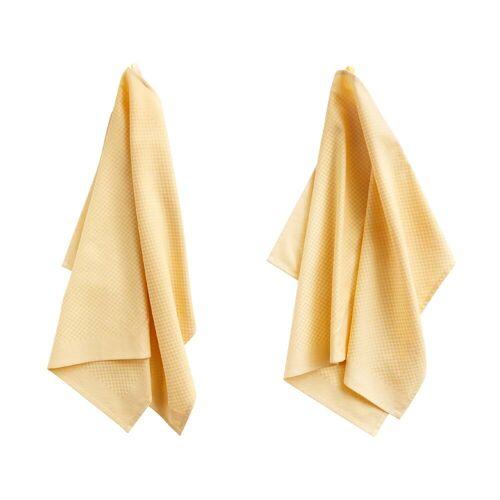 HAY Tea Towels Check Geschirrtuch 2er-Set  gelb