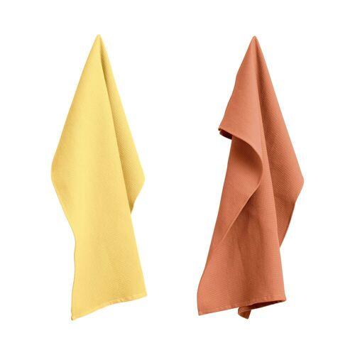 HAY Waffle Tea Towel Geschirrtuch 2er-Set  beige