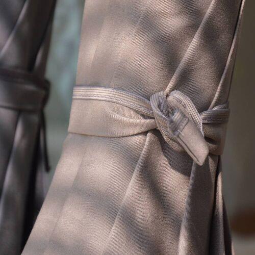 Jan Kurtz Salina Sonnenschirm mit Knickgelenk ohne Schirmständer  grau