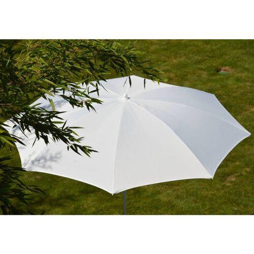 Jan Kurtz Ravenna Sonnenschirm mit Knickgelenk ohne Schirmständer  weiß/weiß