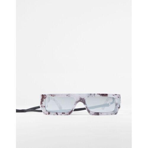 Bershka Transparente Sonnenbrille Mit Spiegelgläsern Herren Grau