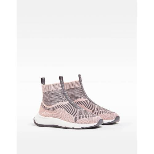 Bershka Sock-Boots-Sneaker Aus Mesh-Stoff Damen 41 Rosa