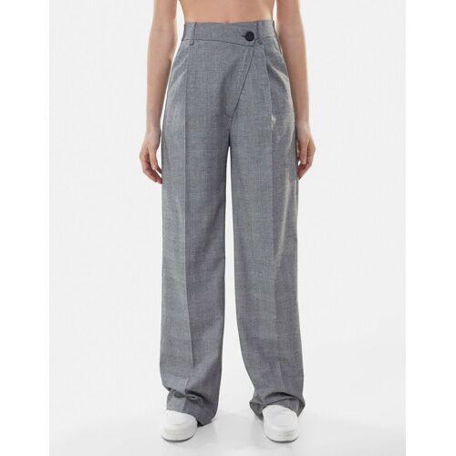 Bershka Wide Leg Hose Damen 36 Grau