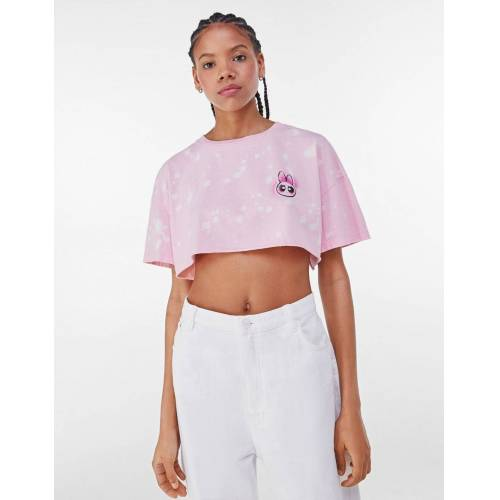 Bershka Cropped-Shirt Powerpuff Girls Damen L Rot
