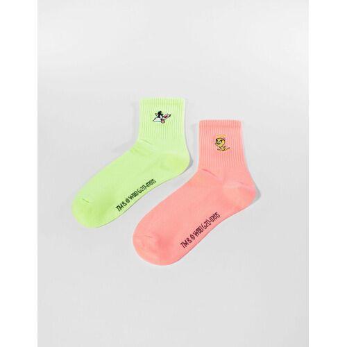 Bershka Doppelpack Socken Looney Tunes Damen Gelb