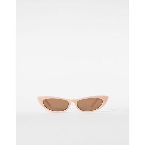 Bershka Cateye-Sonnenbrille Damen Camel