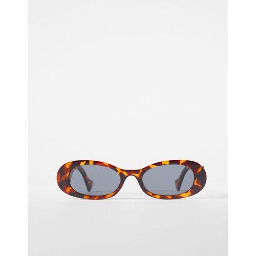 Bershka Ovale Sonnenbrille Damen Braun