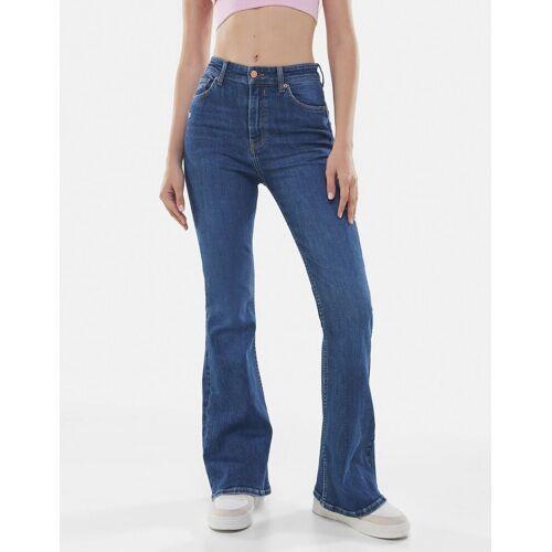 Bershka Jeans Schlaghose Damen 40 Blau