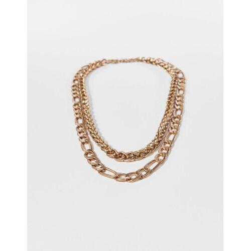 Bershka Doppelte Halskette Herren Gold
