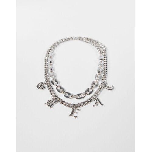 Bershka Gotische Halskette Herren Silber