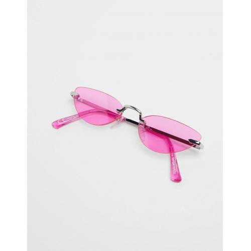Bershka Cateye-Brille Damen M Fuchsia