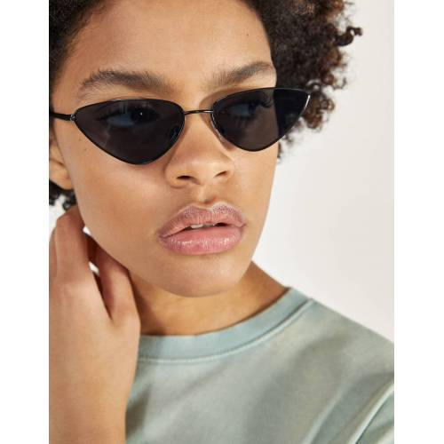 Bershka Cateye-Brille Damen M Schwarz