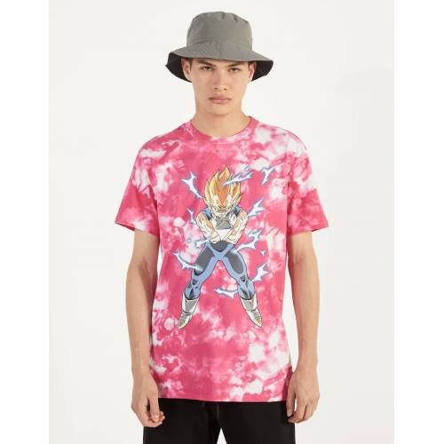 Bershka Tie-Dye-Shirt Dragon Ball Z x Bershka
