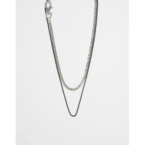 Bershka Doppelte Halskette Herren M Grau
