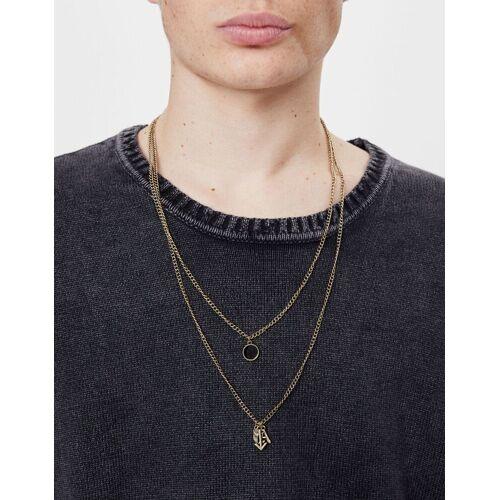 Bershka Halskette Mit Anker Herren M Gold