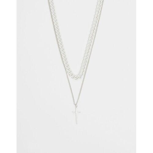 Bershka Halskette Mit Kette Herren M Weiss