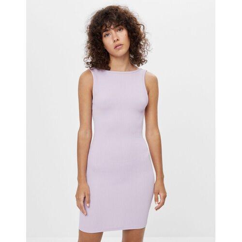 Bershka Rückenfreies Kleid Damen M Violett