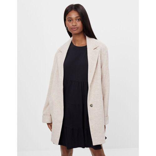 Bershka Kurzer Mantel mit geradem Schnitt