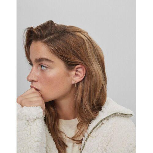Bershka Set Schwarze Ohrringe Damen M Gold