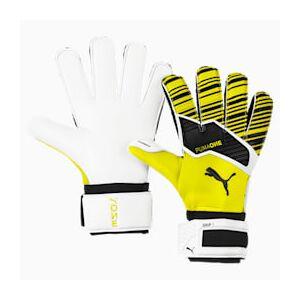 Puma ONE Grip 1 RC Fußball Torwarthandschuhe   Mit Aucun   Weiß/Schwarz/Gelb   Größe: 7.5
