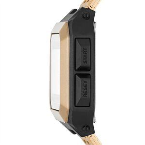 Puma REMIX Unisex Digitalarmbanduhr aus Edelstahl Für Herren   Mit Aucun   Gold/Schwarz