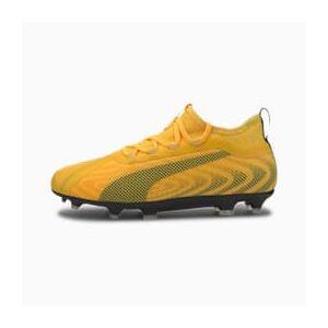 Puma ONE 20.2 FG/AG Youth Fußballschuhe Für Kinder   Mit Aucun   Orange/Schwarz/Gelb   Größe: 33
