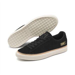 Puma Suede Trim DLX Sneaker Schuhe   Mit Aucun   Weiß/Beige/Schwarz   Größe: 41