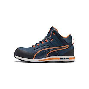 Puma Sicherheitsschuhe Crosstwist Mid S3 HRO SRC Für Herren   Mit Aucun   Orange/Blau   Größe: 47